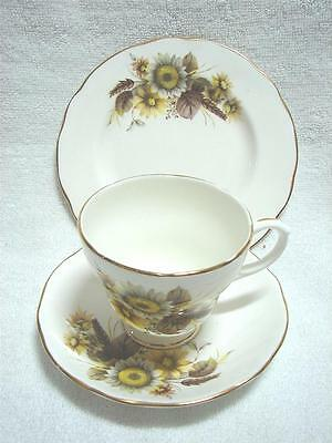 Vintage Duchess High Tea cup saucer plate Trio cup saucer plate Sunflowers