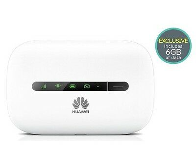 Huawei E5330 Mobile Broadband Wifi Hotspot Router on EE pay as you go + 6GB Data