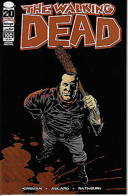 The Walking Dead #100 Image Second Printing Negan & Lucille Cover