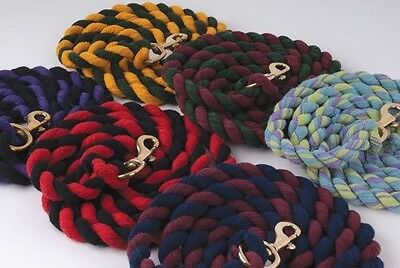 Rhinegold Thick Cotton Lead Ropes All Colours All Sizes