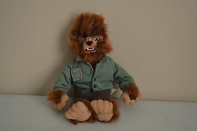 "USED STUFFINS 1999 Wolfman Werewolf 9"" Plush Bean Toy Universal Studios Monsters"