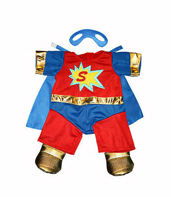 """SuperBear Outfit with Mask 16""""(40cm) will fit Build a Bear & Stufflers Bears"""