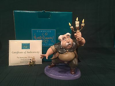 """WDCC Beauty and the Beast - Maurice & Lumiere """"Is Someone There?"""" + Pin - NIB"""