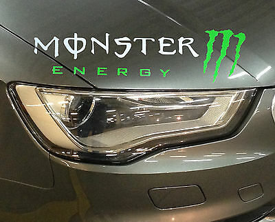 ☆New☆ Amazing Monster Headlight Eyebrow Car Stickers Decals Graphic (White)