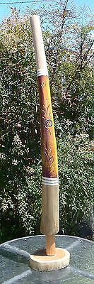 HAND CARVED KIDS DIGERIDOO DOT ART DESIGN COLOURS 90cmH