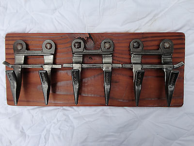 repurposed upcycled farm machinery coat hanger wall key hanger hat towel rack
