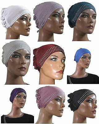Wholesale Lot of 6 Hijab Under scarf Cap silver sparkle  fashion accessory