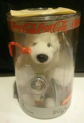 Coca-Cola plush Polar Bear and watch by Cavanagh