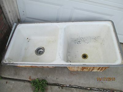 American Standard Double Basin antique Cast Iron sink
