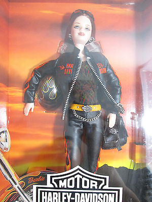 Harley-Davidson Motorcycles Barbie Doll 2000 29207 Flames Faux Leather Jacket