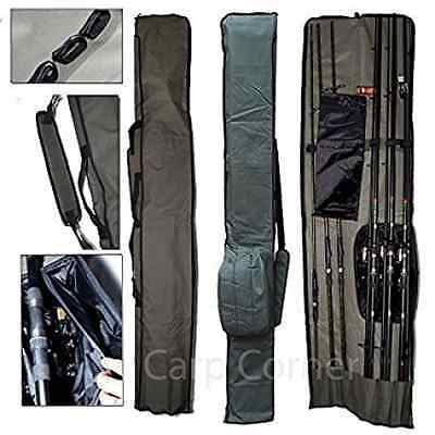 Carp Fishing Tackle Deluxe Rod & Reel Holdall Bag 12Ft Rods