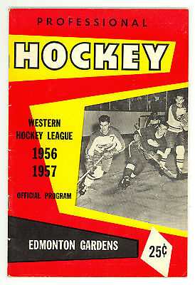 HTF 1956-57 Edmonton Flyers WHL Hockey Program vs. Calgary Stampeders #3