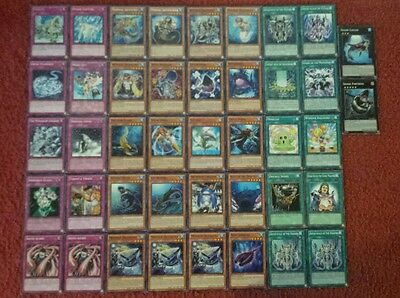 Yu-Gi-Oh Shark and Mermail Deck - 40 cards complete BONUS 5 cards