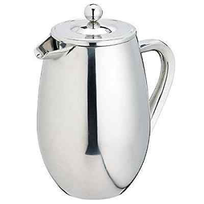 KitchenCraft Le'Xpress Double-Wall Insulated Stainless Steel Cafetière, 1 Litre