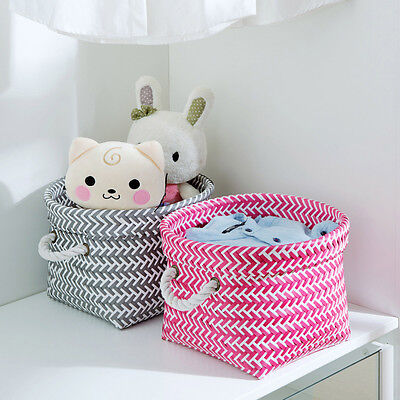 New Woven String Storage Basket Hamper With String Handles Toy Clothing Storage