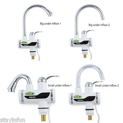 GZU Tankless Electric Hot Water Heater Faucet Kitchen Kit  LED Digital
