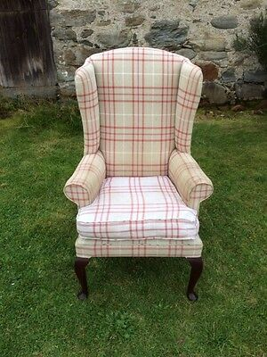 Vintage Wing Back Armchair
