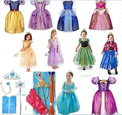 robe d guisement costume la reine des neiges frozen elsa anna enfant couronne eur 7 59. Black Bedroom Furniture Sets. Home Design Ideas