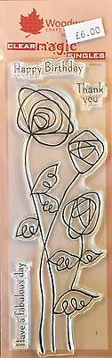 Woodware Clear Magic Wire Roses stamp FRS333