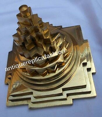 Brass Meru Yantra Business Increment Yantra Hinduism Religion Brass Yantra