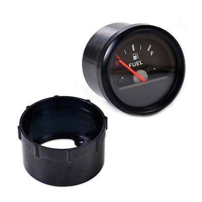 "2"" 52mm 12V Motorcycle Boat Fuel Level Gauge Meter E-1/2-F Pointer Black Face"