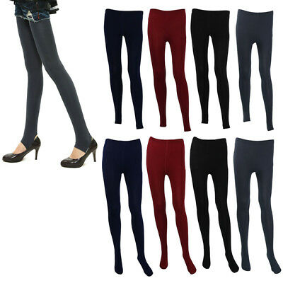 Womens Winter Warm Thick Tights Stocking Stretchy Footed Pants Socks Pantyhose