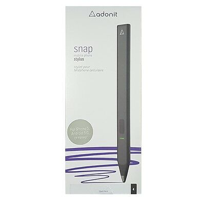 Adonit Snap Fine Point Tip Bluetooth Stylus for iPhone Android Black SS