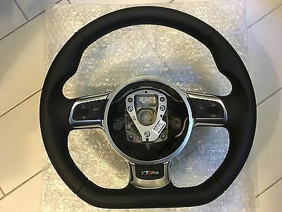 Brand New Genuine Audi TTRS Flat Bottom Sport Perforated Leather Steering Wheel