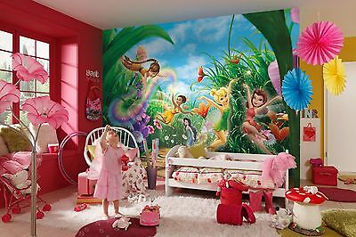 GIANT Wall Mural Photo Wallpaper FAIRIES MEADOW DISNEY Kids Room Decor 368x254cm