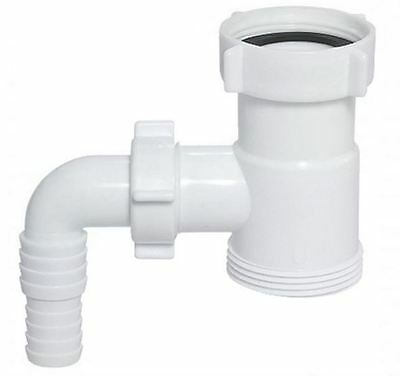 """Drain Waste Trap Pipe Extension Connector 1 1/2"""" BSP with Dishwasher Input"""