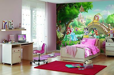 GIANT Wall Mural Photo Wallpaper PRINCESS PALACE PETS DISNEY Girls Bedroom Decor