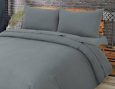 Love2Sleep THERMAL FLANNELETTE SHEET SET: FITTED, FLAT AND PILLOWCASE(S) - GREY