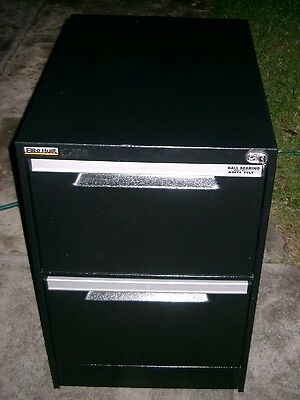"""Heavy Duty 2 drawer FILING CABINET """"Elite Built"""" with key"""