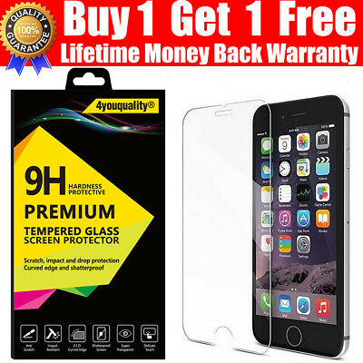 100% Real Top Quality Tempered Glass Screen Protector Film For iPhone 6 & 6S