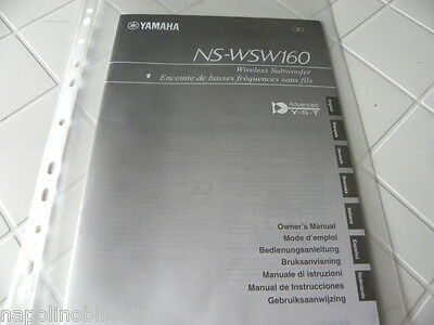 Yamaha NS-WSW160 Owner's Manual  Operating Instructions Istruzioni New