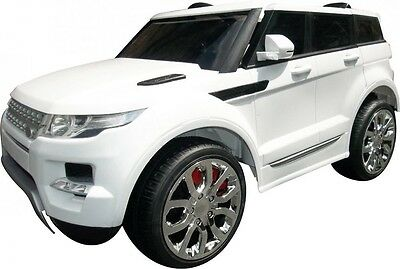 KIDS RANGE ROVER SPORTS STYLE 12v BATTERY ELECTRIC CHILDS RIDE ON CAR JEEP WHITE