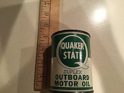 Vintage Small  Quaker State Duplex Outboard Motor Oil Can