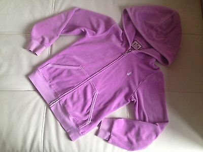 Juicy couture purple terry jacket girls size 8y