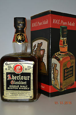 Single Malt Scotch Whisky ABERLOUR 1965 8 years old 75cl with box