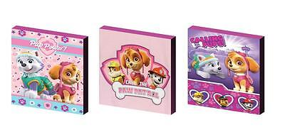 Paw Patrol Pink Canvas Wall Art Plaques/pictures