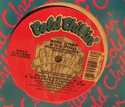 "Kool G Rap & D.J. Polo ‎– Truly Yours (Remix) / Cold Cuts (12"") - US 1989 VG+"