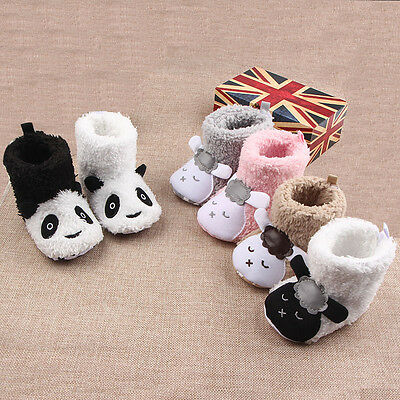 Baby Girls Winter Warm Boots Newborn Toddler Infant Soft Sole Shoes 0-18 Months
