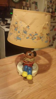 Vintage Mickey Mouse Lamp  1973