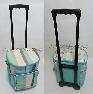 Coast Blue Design Large Wheeled Insulated Trolley Picnic Cooler Cool Bag NEW
