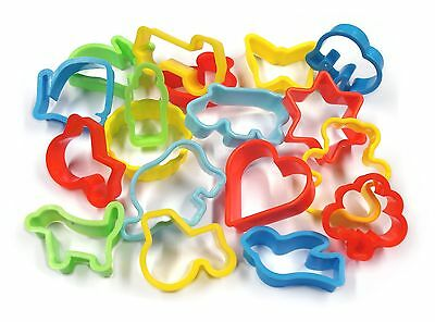 Play Dough play Doh Biscuit Cutters Pack of 12- Assorted Shapes 9000CUT-12