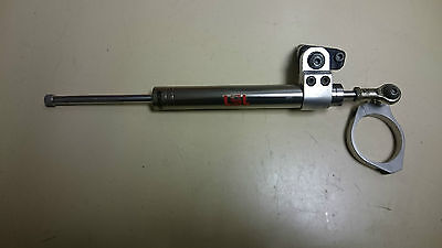 LSL MOTORCYCLE 375mm STEERING DAMPER WITH A 53mm FORK CLAMP