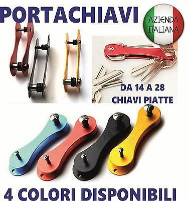 portachiavi key holder idea regalo smart organizer alluminio aluminum incisione