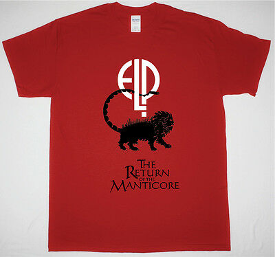Elp Emerson Lake And Palmer The Return Of The Manticore Red T Shirt Rock
