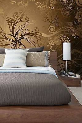 GIANT Wall Mural Photo Wallpaper GOLD Abstract Living Room Bedroom Decor 368x254
