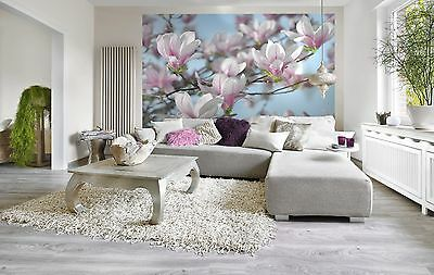 Wall Mural Photo Wallpaper MAGNOLIA BLOSSOM Living Room Decor Flowers 368x254cm